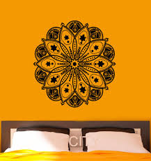Om Wall Decal Mandala Vinyl by Aliexpress Com Buy Wall Decal Mandala Indian Pattern Vinyl