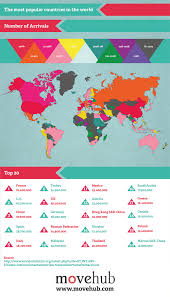 countries visited map tourism map shows most popular countries travelers visit each year