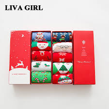 fuzzy christmas socks liva girl 3d 5 pairs christmas socks gifts women warm cotton