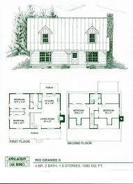 simple log cabin floor plans log house plans cabin with basement floor loft and wrap around