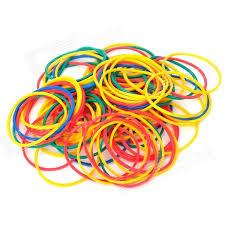 hair rubber bands hair braiding elastic poly rubber bands random color 150 pcs
