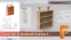3d Bookshelf Fusion 360 3d Bookshelf Tutorial Beginner Practice 7 Youtube