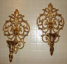 gold candle wall sconces interior home design home decorating