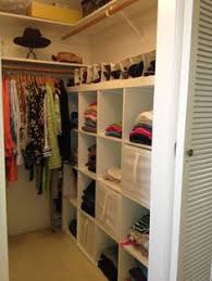 Closet Ideas For Small Bedroom Attach Rods To Side Of A Simple Bookshelf To Make A Closet Area In