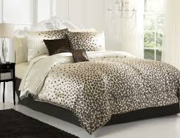 Leopard Bed Set Chic Snow Leopard Brown 6pc Comforter Set Bedskirt Dec