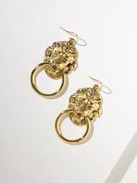 small earrings the vandal small door knocker earrings gold mooney