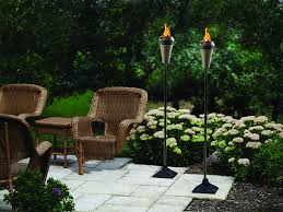 Patio Torch Lights by Amazon Com Tiki Brand Cast Iron Torch Stand Black 9 1l X 9 1w