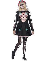 sugar skull costume smiffys day of the dead sugar skull costume