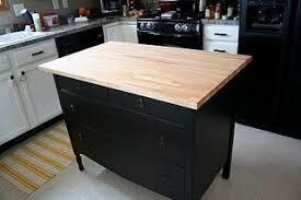 Kitchen Island Out Of Dresser - an ikea hemnes dresser turned into a kitchen island awesome
