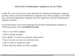 Sample Resume For Maintenance Engineer by Electrical Maintenance Engineer Cover Letter