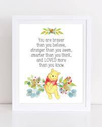 winnie the pooh wall art printable nursery art you are braver winnie the pooh wall art printable nursery art you are braver than you believe winnie the pooh quote winnie the pooh nursery decor