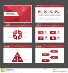 red polygon multipurpose infographic presentation brochure flyer