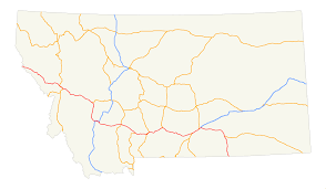 Hamilton Montana Map by Interstate 90 In Montana Wikipedia