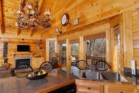 pigeon forge riverfront two bedroom vacation cabin rental pigeon forge cabin fully equipped kitchen