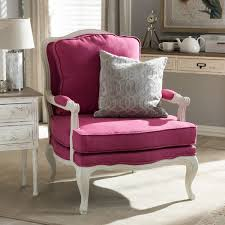Pink Accent Chair Antoinette Traditional Classic Antiqued Pink Accent Chair