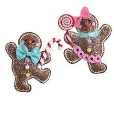 raz gingerbread boy ornament set of 2 2 assorted