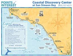 Cambria Map Mbnms Coastal Discovery Center At San Simeon Bay About Us