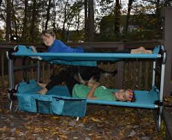 Portable Bunk Beds Kid O Bunk Portable Bunk Beds For Sleepovers And Cing