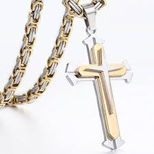 steel necklace jewelry images Trendsmax jewelry stainless steel cross pendant necklace mens boys jpg