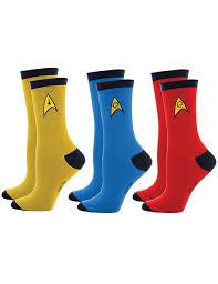 amazon com star trek uniform socks command science