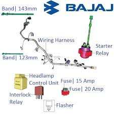 bajaj pulsar 200ns main wiring harness and realys with fuses