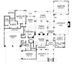 House Plans With Courtyard by Mediterranean Style House Plan 4 Beds 3 50 Baths 3691 Sq Ft Plan