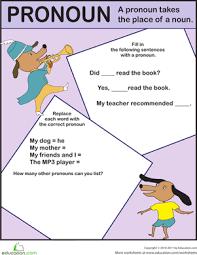 pronoun exercise worksheet education com