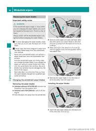 manual windshield wiper mercedes benz b class 2017 w246 owner u0027s manual