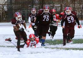 sports belmont football snowed in by watertown 34 13 on