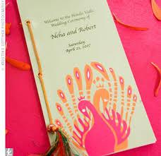 hindu wedding program unique wedding program ideas