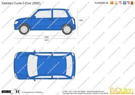 the blueprints com vector drawing daihatsu cuore 3 door