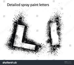 Font Spray Paint - detailed spray paint font ll stock vector 14324791 shutterstock