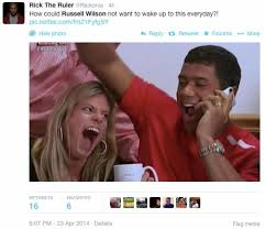 Russell Wilson Wife Meme - fans salute russell wilson divorcing wife before big contract