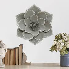 Metal Flower Wall Decor - home decor metal lotus flower wall decor