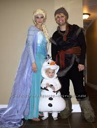 authentic frozen family costume elsa olaf and kristoff elsa