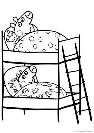 peppa pig coloring pages peppa george sleeping coloring4free