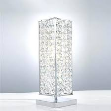 crystal lamps for bedroom modern crystal table lamps and style