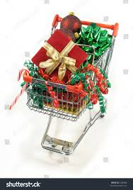 christmas packages ornaments candy cane bow stock photo 2186668