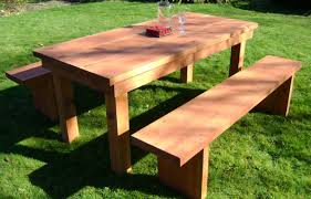 Cedar Deck Bench Patio U0026 Pergola Awesome Patio Table With Bench 12 Awesome
