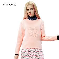 classic style print pink for women casual pullovers hoodies spring