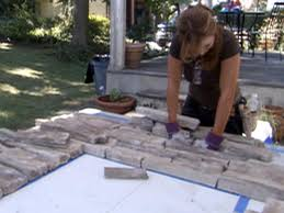 cover a brick fireplace with stone hgtv