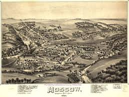 Moscow Map Panoramic Maps Lackawanna County Pa