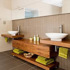 Wooden Bathroom Furniture Baños Modernos En Madera Mueble Lavamanos Doble Pinterest