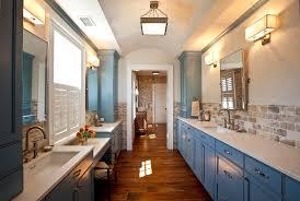 Rustic Tile Bathroom - brick backsplash tile bathroom rustic with bathroom blue painted