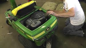 how to change the deck and drive belts on a john deere rx75 riding