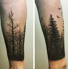 gentleman with tree sleeve on forearm tattoos