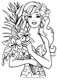 summer vacation coloring pages barbie coloring pages