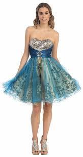 fashion trends unique peacock short prom dresses