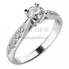 zasnubni prsten zásnubní prsten s diamanty zp 10745d goldex cz
