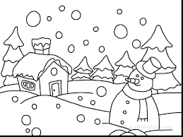 fantastic winter coloring pages snow buddies free printable